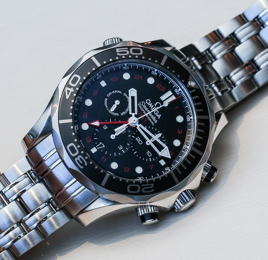 566b5439c Cheap Omega Seamaster Diver 300M Co-Axial GMT Chronograph 44MM Steel On  Steel Watches