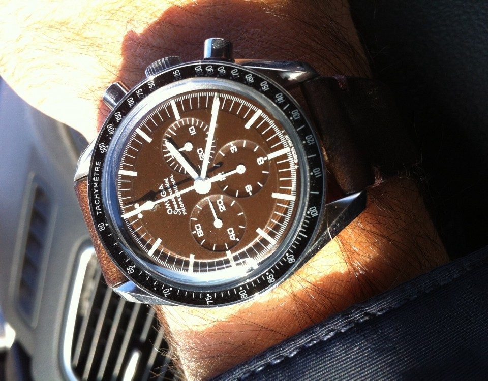 Brown Dial Omega Speedmaster 'Tropical' Vintage Watch Replica Online