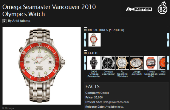 My Omega Seamaster Professional 300m Limited Edition Vancouver 2010 Olympics Watch Article On AskMen.com Announcements