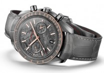 44.25mm round case omega speedmaster grey side of the moon meteorite replica watch