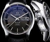 Best replica omega de ville hour vision calendrier annuel steel watch