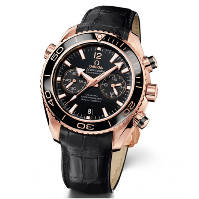 Omega Seamaster Planet Ocean Ceragold Chronograph